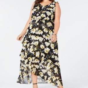 I.N.C. Plus Size High-Low Maxi Dress